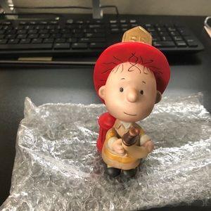 Peanuts pigpen fire fighter figurine